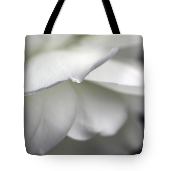 White Rose Flower Petals Tote Bag by Jennie Marie Schell