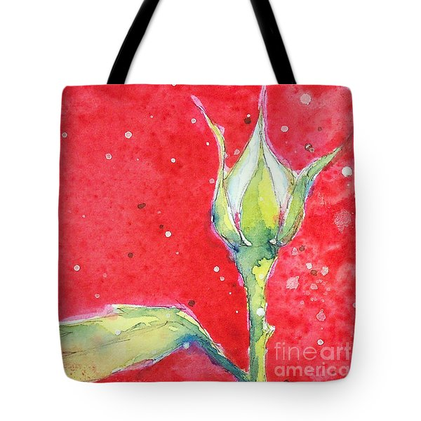 White Rosebud Tote Bag