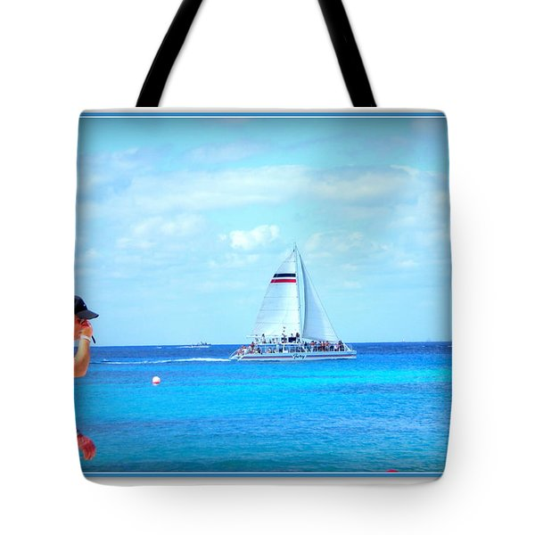 White Sails Tote Bag by Danielle  Parent
