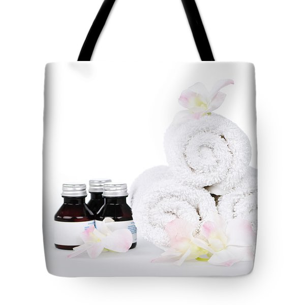 White Spa Tote Bag by Elena Elisseeva