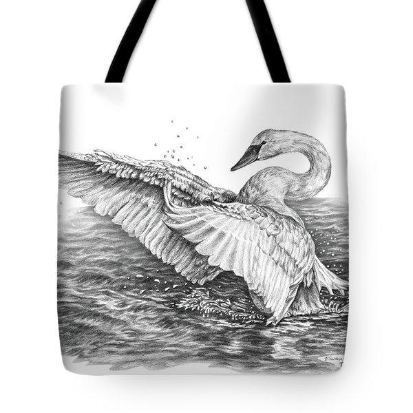 White Swan - Dreams Take Flight Tote Bag