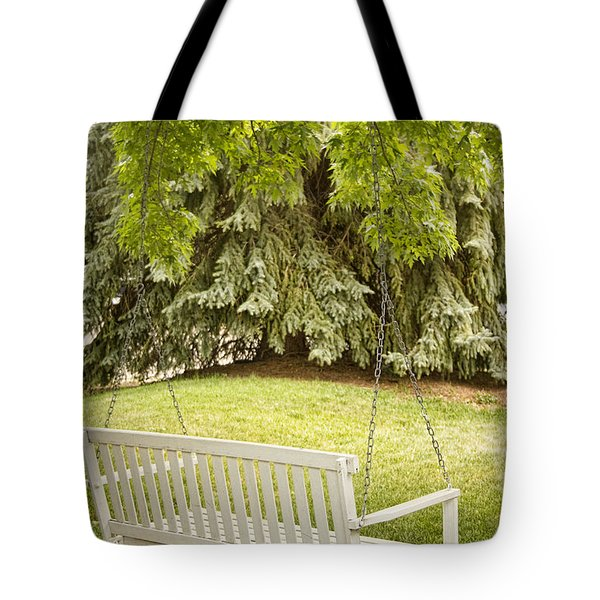 White Swing In The Green Tote Bag by James BO  Insogna