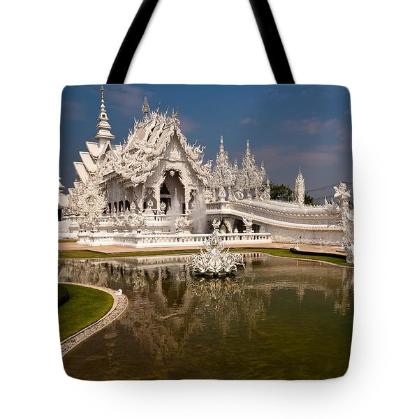 White Temple Tote Bag by Adrian Evans