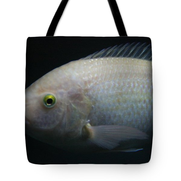 White Tilapia With Yellow Eyes Tote Bag