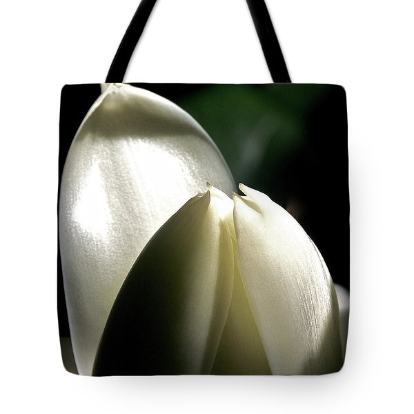 White Torch Ginger Tote Bag by Jocelyn Kahawai