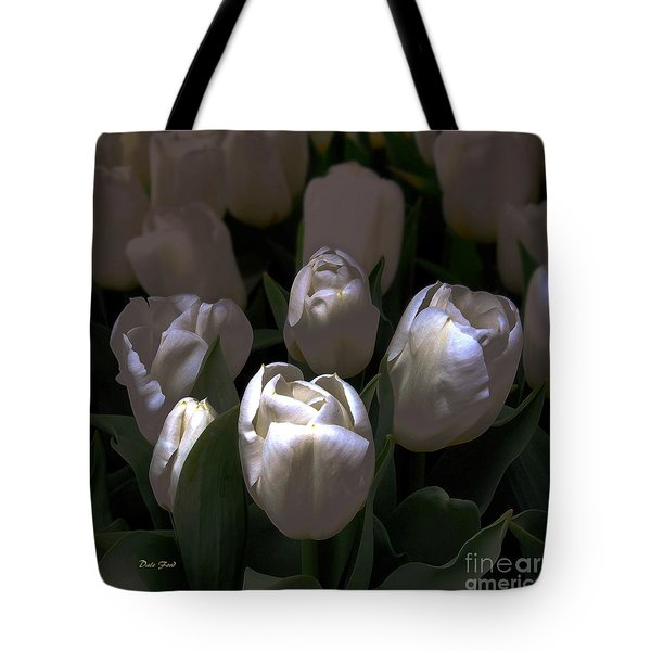 White Tulips Tote Bag by Dale   Ford