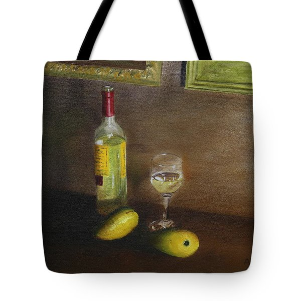 White Wine And Mangoes Tote Bag
