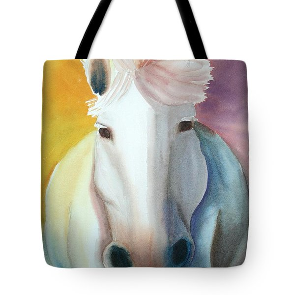 White Work Horse Tote Bag