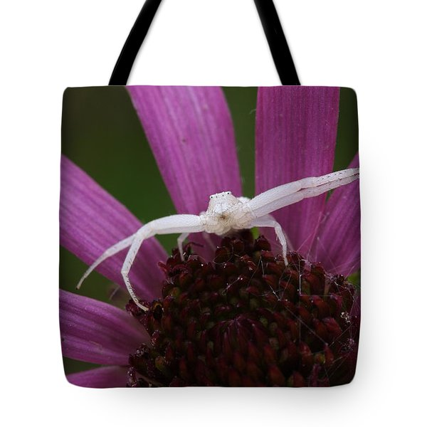 Whitebanded Crab Spider On Tennessee Coneflower Tote Bag