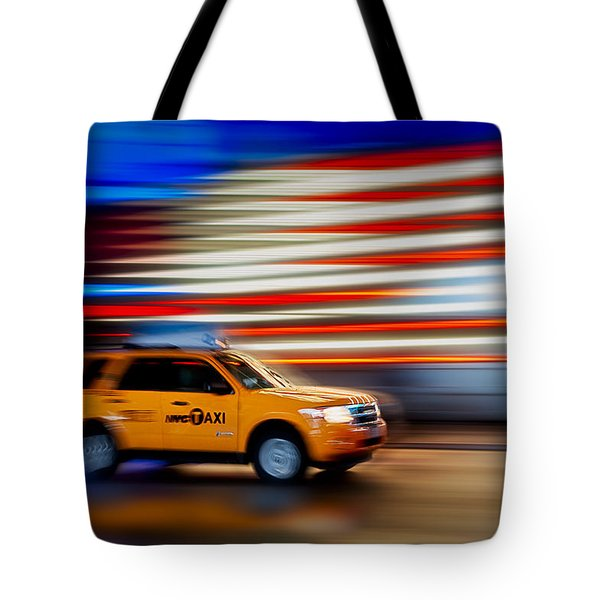 Whizzing Along Tote Bag by Susan Candelario