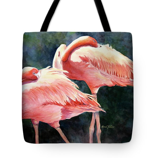 Who's Peek'n - Flamingos Tote Bag
