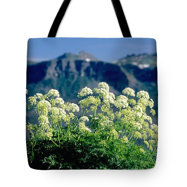 Wild Angelica Tote Bag by James Steinberg and Photo Researchers