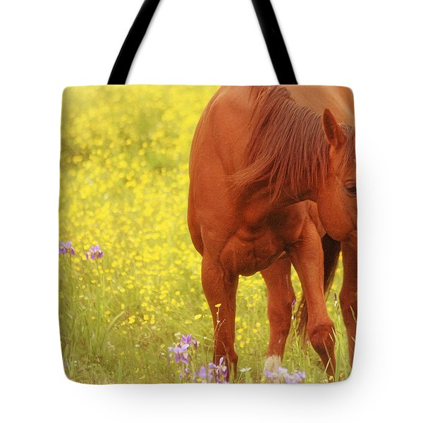 Wild As The Flowers Tote Bag by Karol Livote