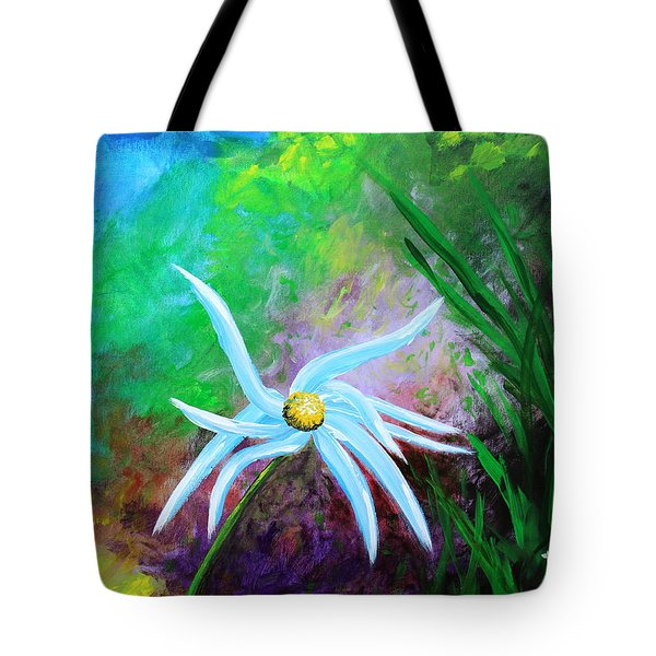 Tote Bag featuring the painting Wild Daisy 2 by Kume Bryant