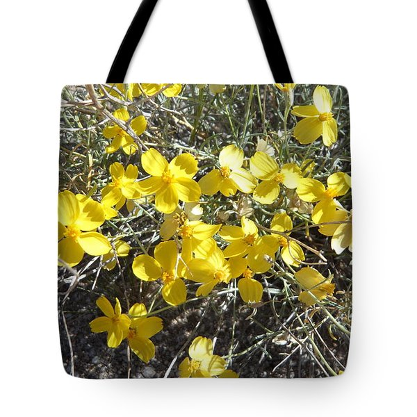 Tote Bag featuring the photograph Wild Desert Flowers by Kume Bryant