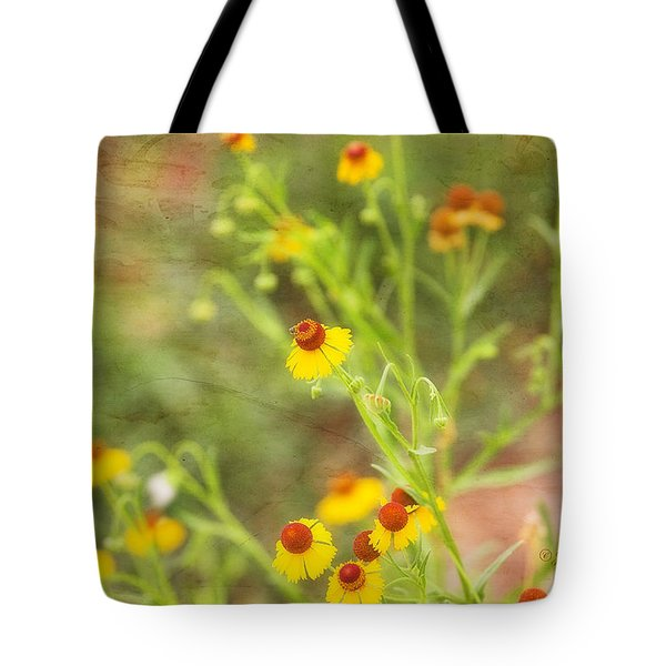 Tote Bag featuring the photograph Wild Flowers by Joan Bertucci
