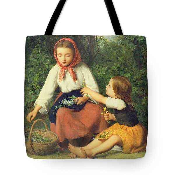 Wild Flowers Tote Bag by William Charles Thomas Dobson