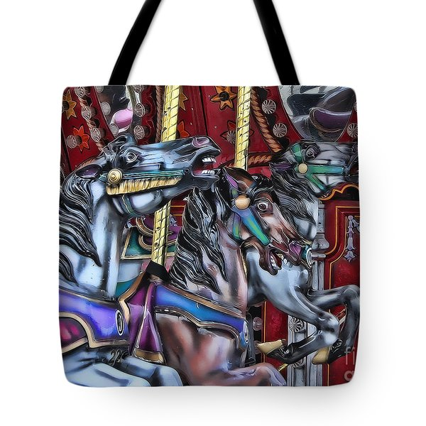 Wild Horses Tote Bag by Heather Applegate