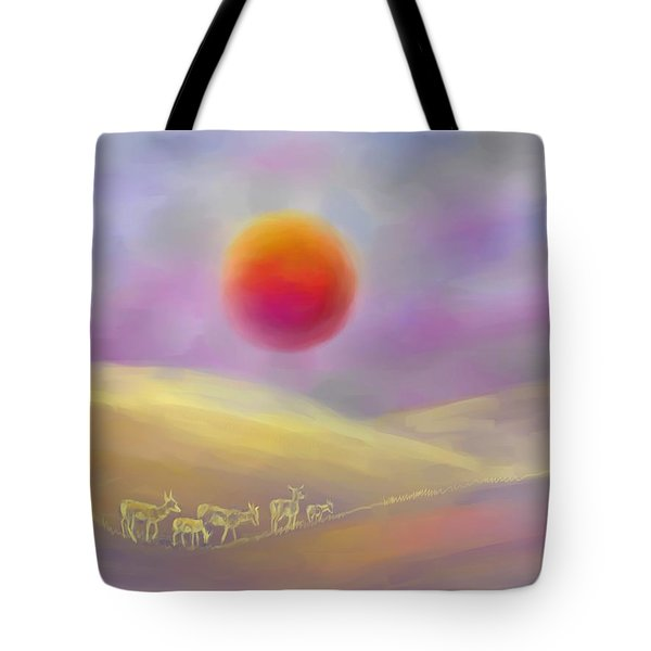 Wildfire Sunrise Tote Bag by Dawn Senior-Trask