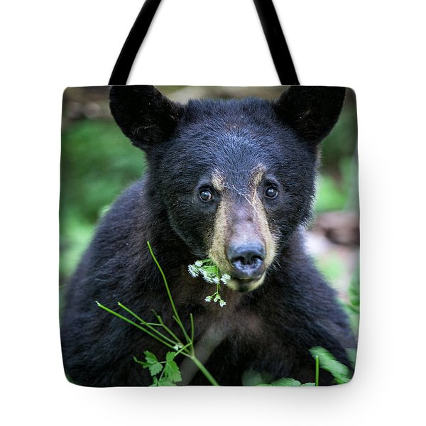 Wildflower Bear Tote Bag