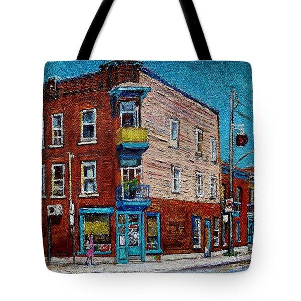 Wilensky's Light Lunch Plateau Montreal Tote Bag by Carole Spandau