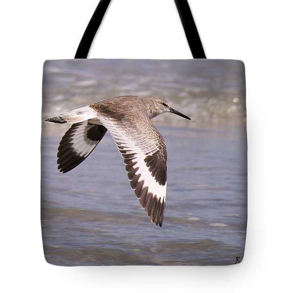 Willet In Flight Tote Bag