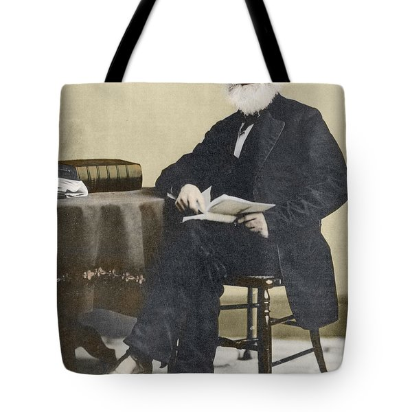 William Cullen Bryant, American Poet Tote Bag by Science Source