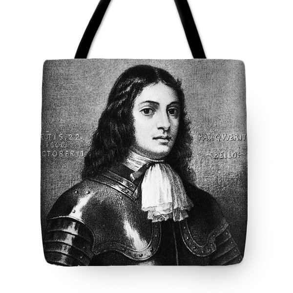 William Penn, Founder Of Pennsylvania Tote Bag by Photo Researchers