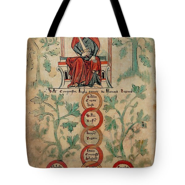 William The Conqueror Family Tree Tote Bag by Photo Researchers