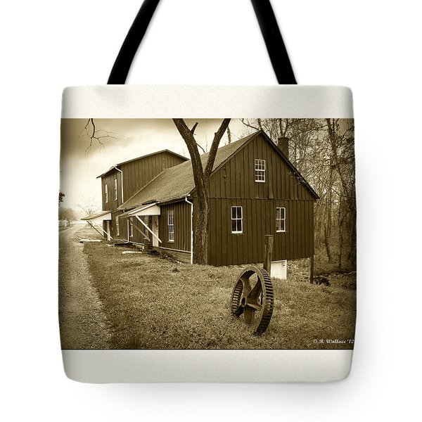 Williston Mill - Sepia Tote Bag by Brian Wallace