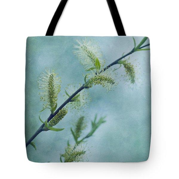 Willow Catkins Tote Bag by Priska Wettstein