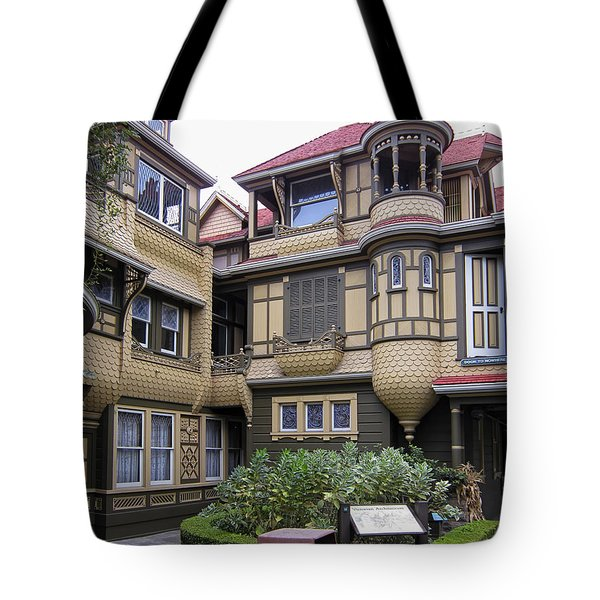 Winchester House - Door To Nowhere Tote Bag by Daniel Hagerman
