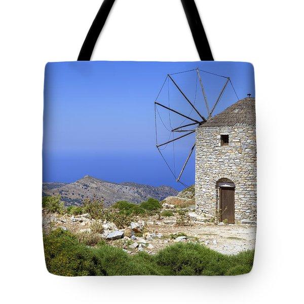 wind mill Naxos Tote Bag
