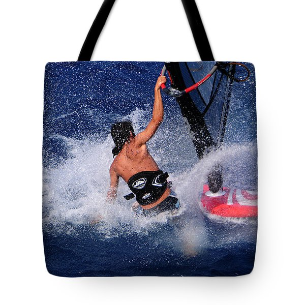 Wind Surfing Tote Bag by Manolis Tsantakis
