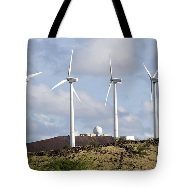 Wind Turbines At The Ascension Tote Bag by Stocktrek Images