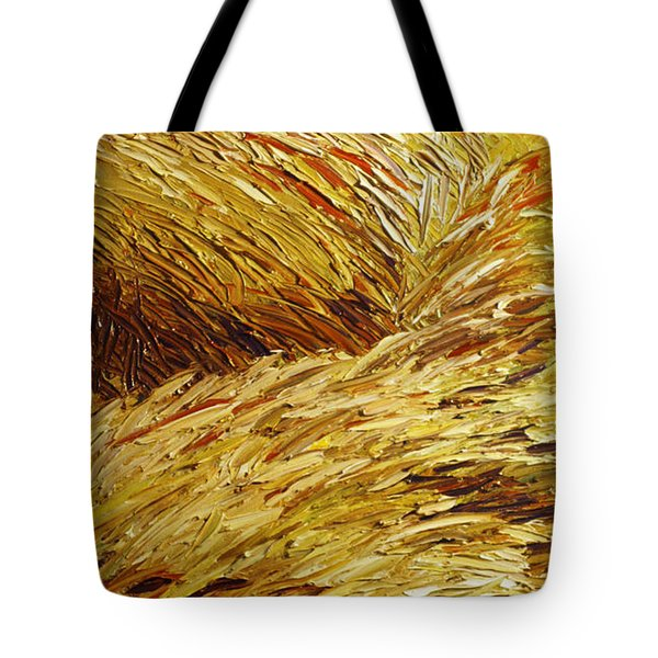 Windblown Grass Tote Bag by Raette Meredith