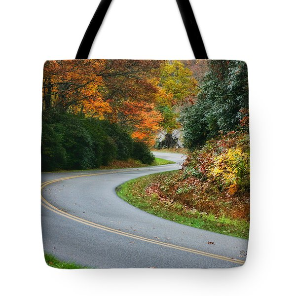 Tote Bag featuring the photograph Winding Road by Joan Bertucci