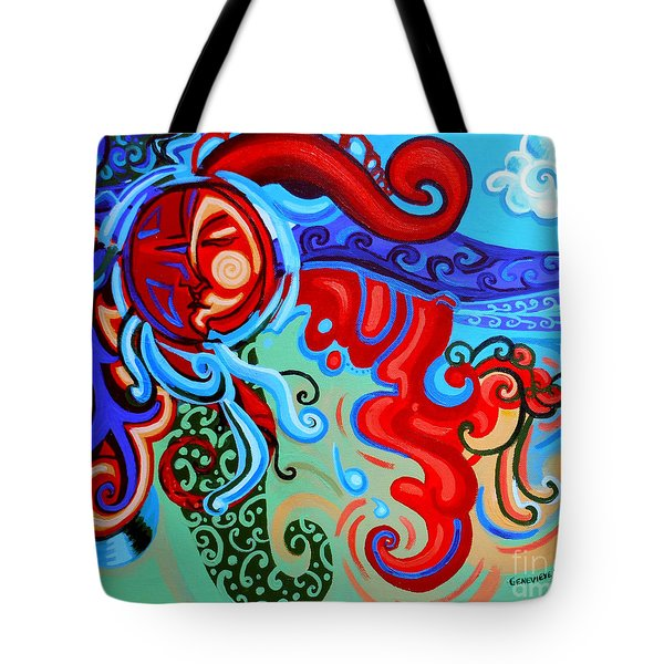 Winding Sun Tote Bag by Genevieve Esson