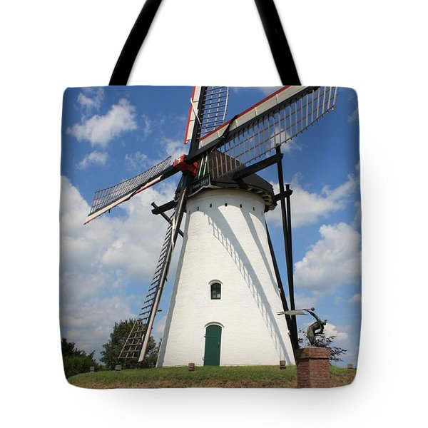 Windmill And Blue Sky Tote Bag by Carol Groenen