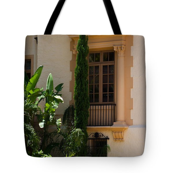 Tote Bag featuring the photograph Window At The Biltmore by Ed Gleichman