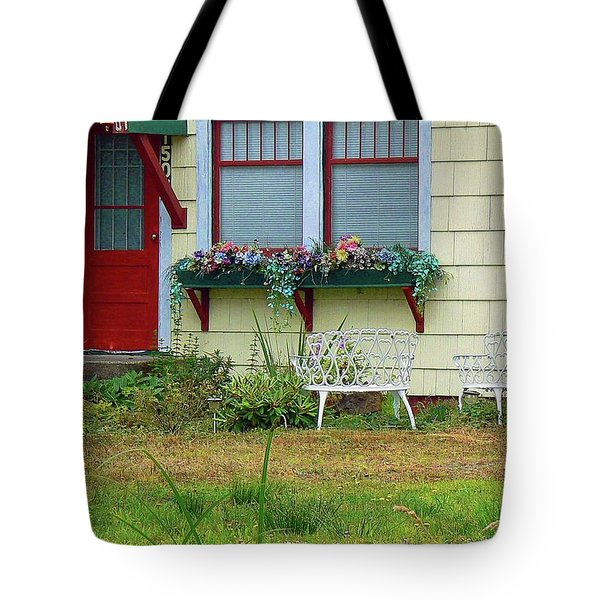Window Flower Garden Tote Bag by Pamela Patch