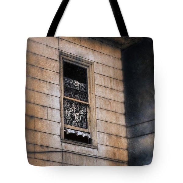 Window In Old House Stormy Sky Tote Bag by Jill Battaglia