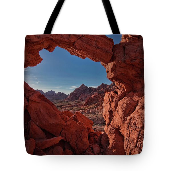 Window On The Valley Of Fire Tote Bag
