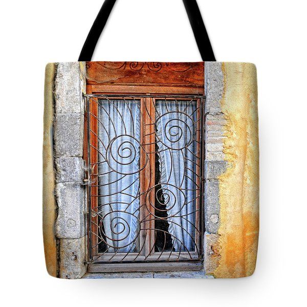Tote Bag featuring the photograph Window Provence France by Dave Mills