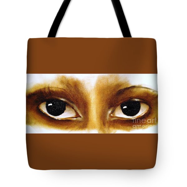 Tote Bag featuring the painting Window To The Soul by Annemeet Hasidi- van der Leij