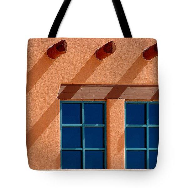 Windows Blue Tote Bag by Vicki Pelham