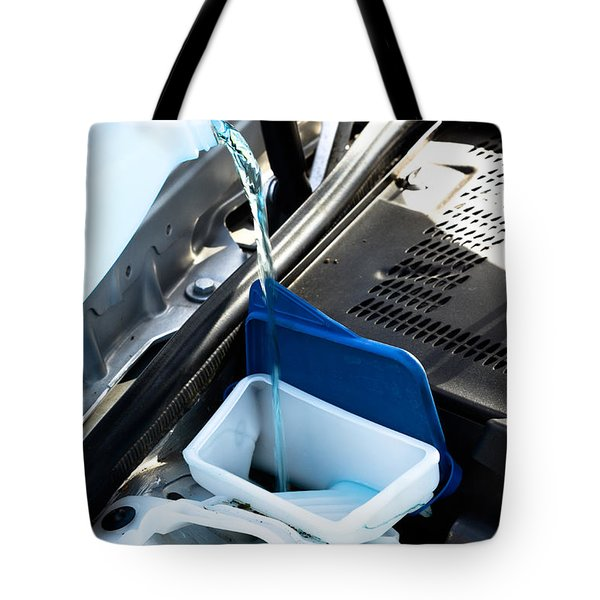 Windshield Cleaning Fluid Tote Bag by Photo Researchers