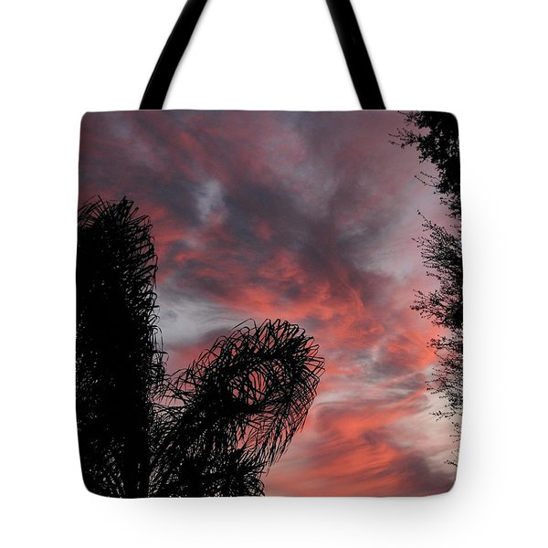Windswept Clouds Tote Bag