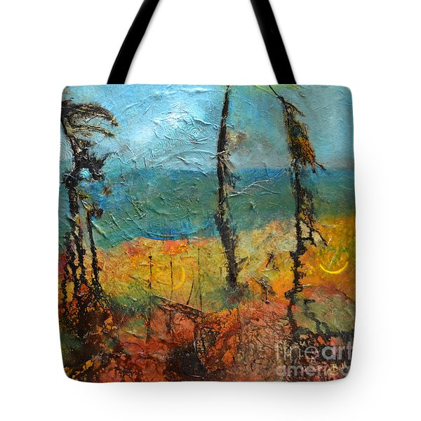 Windswept Pines Tote Bag