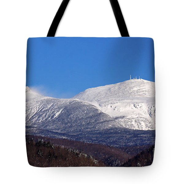 Windy Day At Mt Washington Tote Bag